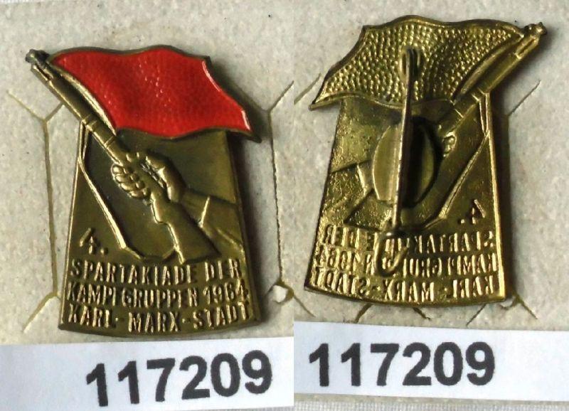 DDR Abzeichen 4.Kampfgruppenspartakiade Karl Marx Stadt 1964 (117209)