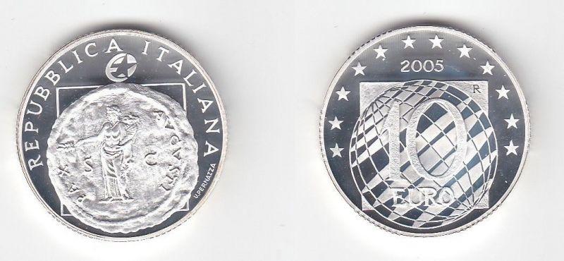 10 Euro Silbermünze Italien 60 Jahre Frieden und Freiheit 2005 (112070)
