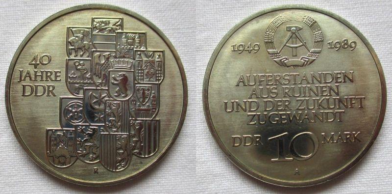 DDR Gedenk Münze 10 Mark 40.Jahrestag der DDR 1989 (114351)