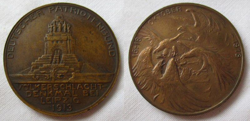 Bronze Medaille Deutscher Patriotenbund Völkerschlachtdenkmal 1913 (113105)