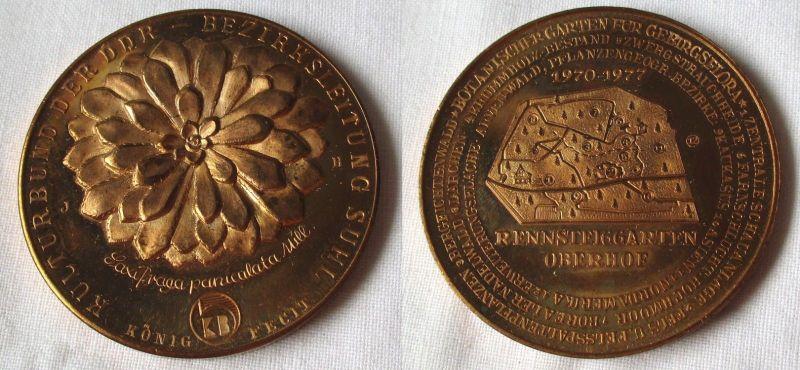 DDR Medaille Rennsteiggarten Oberhof 1970-1977 Kulturbund der DDR Suhl (116048)