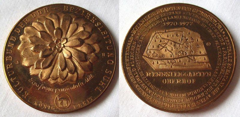 DDR Medaille Rennsteiggarten Oberhof 1970-1977 Kulturbund der DDR Suhl (118466)