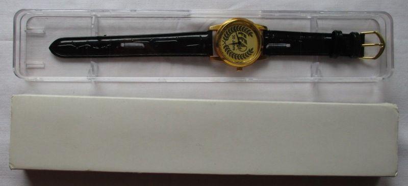 DDR Auszeichnung vergoldete Uhr für 30 jährige Mitarbeit Firma FFD (123951)