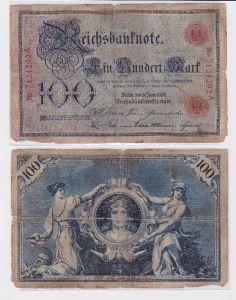 100 Mark Banknote Kaiserreich Deutsches Reich 08.06.1907 (117615)