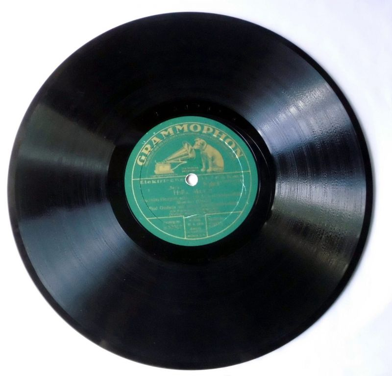 115627 Schellackplatte Grammophon