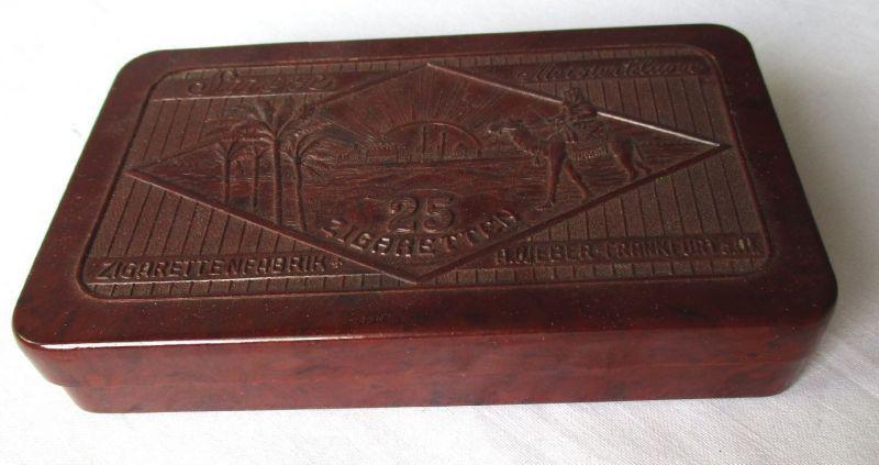 Alte Original Bakelit Zigarettenetui SUEZ Meisterklasse Weber Frankfurt (103425)
