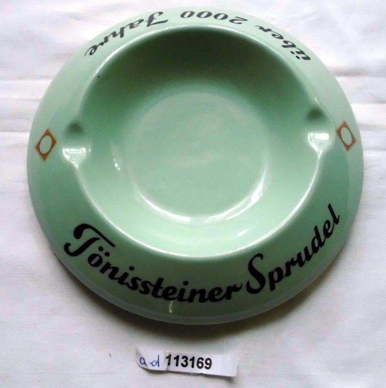 Werbe-Aschenbecher Tönissteiner Sprudel Porzellan rastal um 1950 (113169)