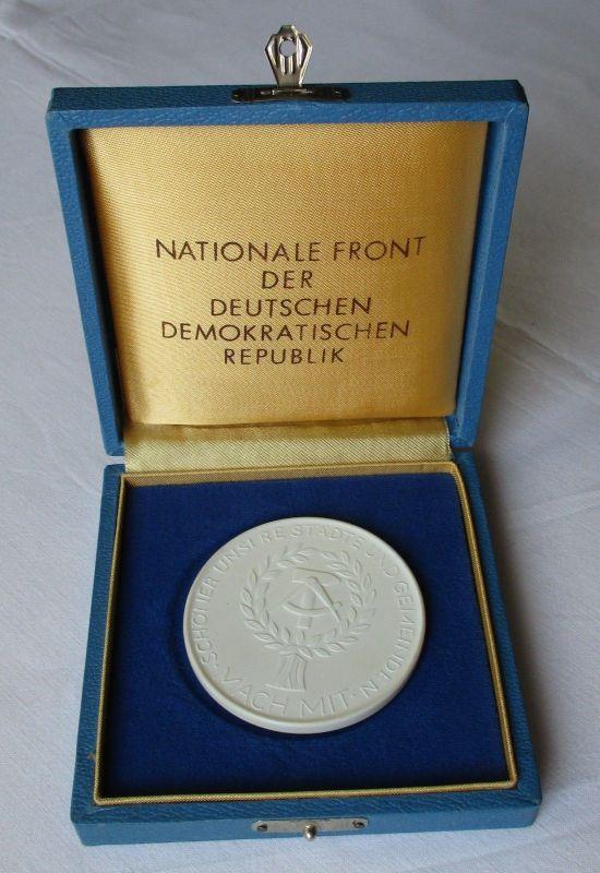 DDR Porzellan Medaille Für Hervorragende Leistungen Bürgerinitiative (125520)