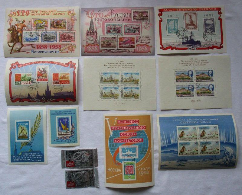 Russland Sowjetunion UDSSR Blöcke 1955-1961 gestempelt TOP (119439)