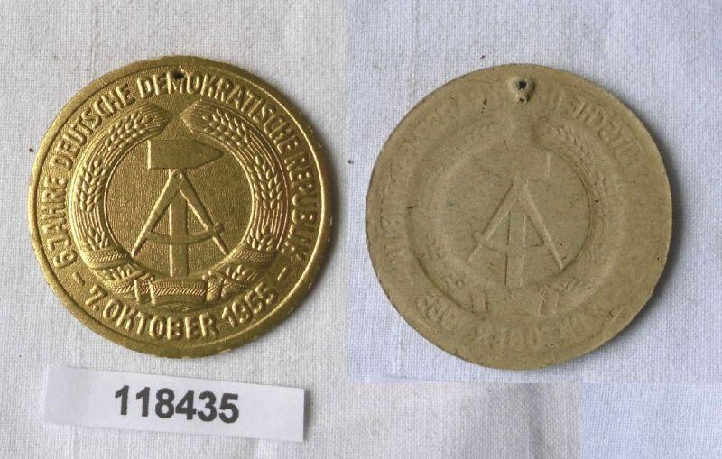 Seltenes DDR Papp Abzeichen 6 Jahre DDR 7.Oktober 1955 (118435)