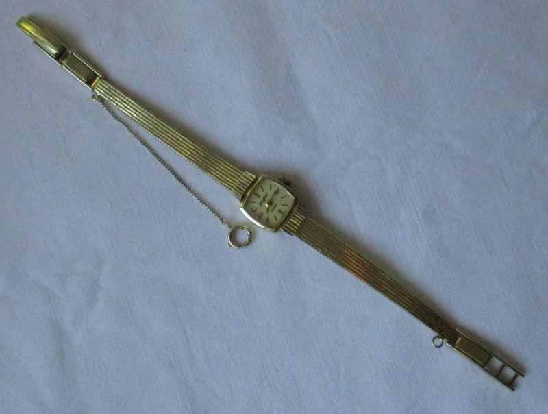 Hochwertige Damenarmbanduhr 585er Gold GUB Glashütte 17 Rubis (120063)