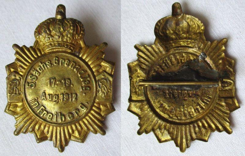 Seltenes Abzeichen 5. sächsischer Grenadier Tag in Freiberg August 1912 (125597)