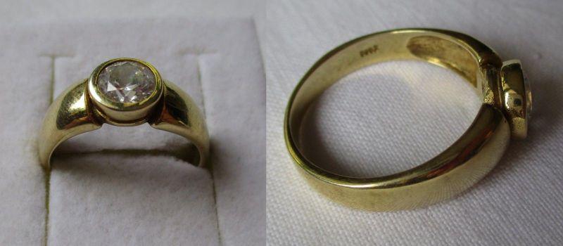 Wunderschöner Damen Ring aus 585er Gold mit schön geschliffenem Stein (123559)