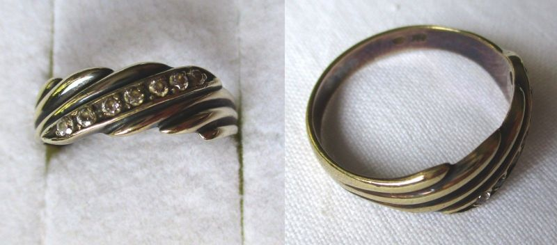 Eleganter Damen Ring aus 333er Gold mit 7 Schmucksteinen (124791)