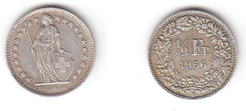 12 Franken Silber Münze Schweiz 1956 B 114572 Nr 232771946421