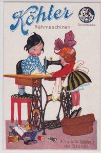 90091 Reklame AK Köhler Nähmaschinen sind und bleiben die Besten um 1930