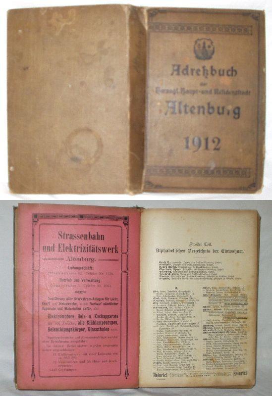 Adreßbuch der herzogl. Haupt-und Residenzstadt Altenburg (17830)