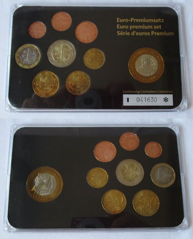 Kursmünzsatz Slowenien Sonderprägung 8 Münzen Blister 1 Cent 2