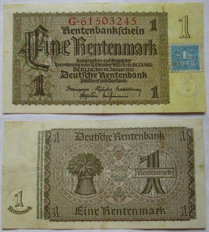 1 Mark Banknote DDR Deutsche Notenbank 1948 Kuponausgabe (116488)
