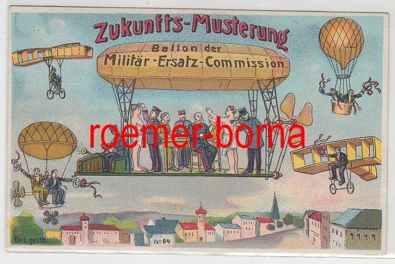 75248 Ak Zukunftsmusterung Ballon der Militär Ersatz Commission um 1915