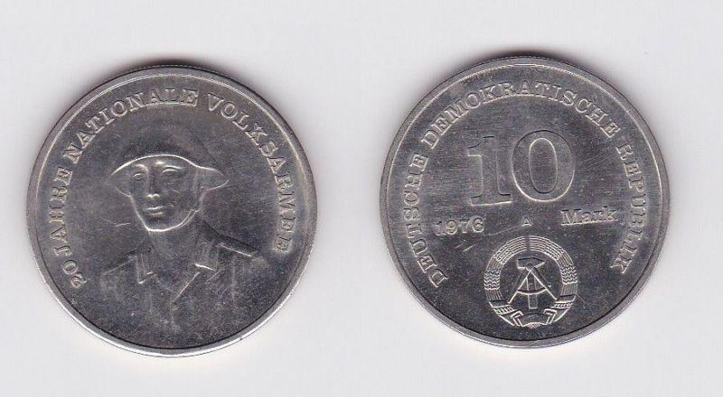 DDR Gedenk Münze 10 Mark 20 Jahre Nationale Volksarmee NVA 1976 (121440)