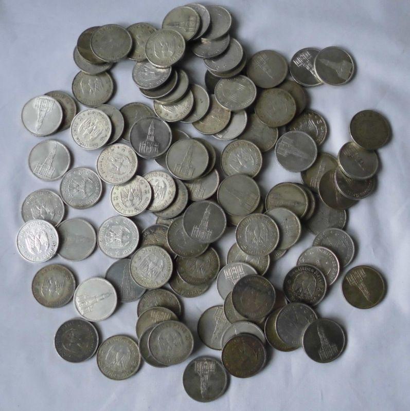 100 interessante Silber Münzen 5 Mark Garnisonkirche 1934/1935 (117628)
