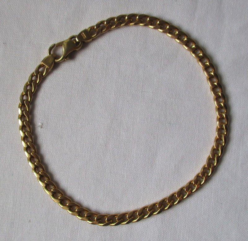 Wundervolles 585er Gold Armband Gliederarmband Länge 21 cm Breite 5 mm (125295)