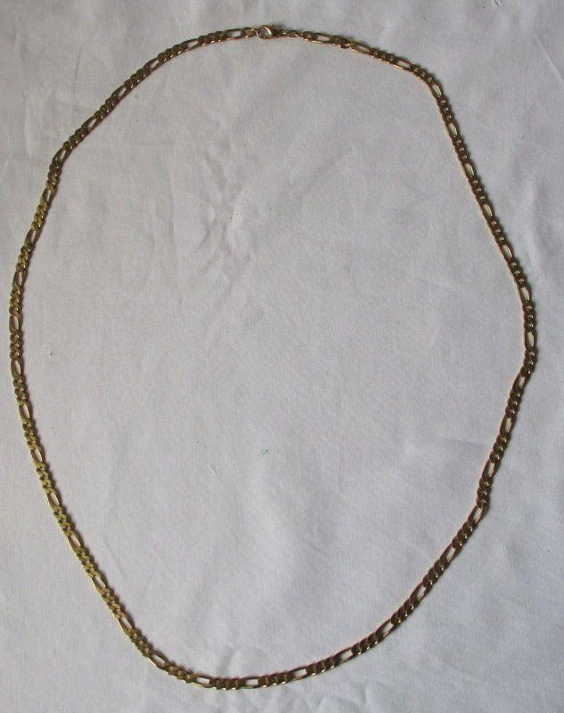 Charmante 585er Gold Kette dekorative Gliederkette Länge 80 cm B 0,5 cm (125311)