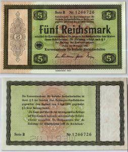5 RM 1933 Deutsches Reich Konversionskasse für deutsche Auslandsschulden