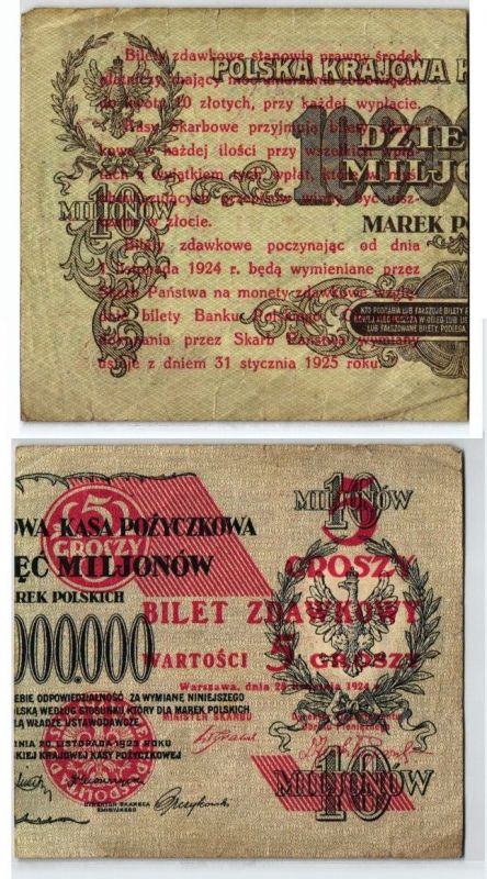 Bilet 5 Grosz Banknote Polen 28. April 1924 (123632)