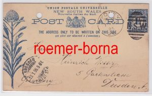 81024 Ganzsache New South Wales Stempel Sydney 1895