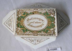 Hübscher Taufbrief mit goldgeprägtem Umschlag 1868 (112362)