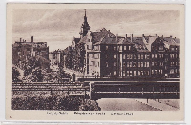 88418 Ak Leipzig Gohlis Friedrich Karl Straße Cöthener Straße um 1930