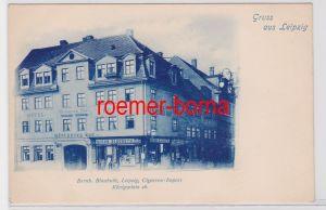 88310 Ak Gruß aus Leipzig Cigarren Import Königsplatz 16, um 1900