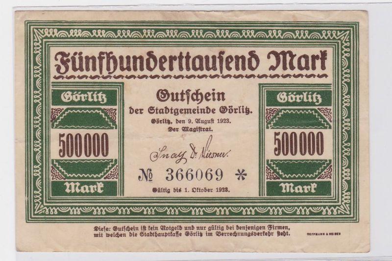 500000 Mark Banknote Stadtgemeinde Görlitz 9.August 1923 (116501)