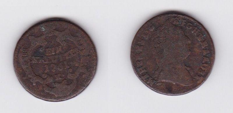 1 Kreuzer Kupfer Münze Österreich 1761 K (123040)