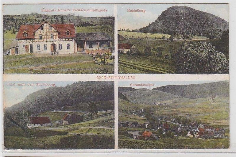 69815 Mehrbild Ak Ober-Reimswaldau Traugott Kunze´s Freudenschloßbaude 1925