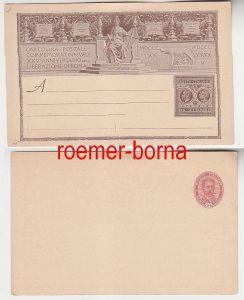 75383 seltene Ganzsachen Karte Italien 10 Centesimi um 1900