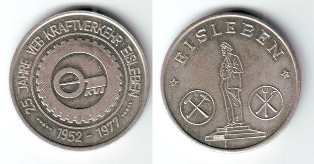 DDR Medaille 25 Jahre VEB Kraftverkehr Eisleben 1952-1977 (111212)