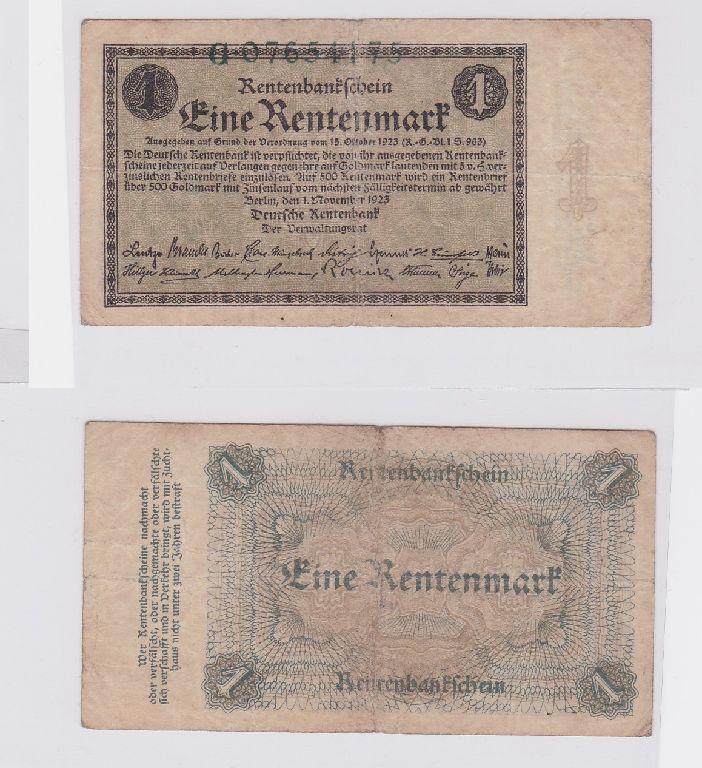 1 Rentenmark Banknote Weimarer Republik 1.November 1923 (117414)