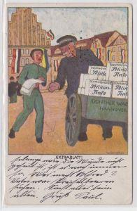 74378 Reklame Ak Pelikan Tinte Günther Wagner Hannover 1916