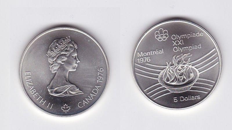 5 Dollar Silber Münze Canada Kanada Olympiade Montreal Boxen 1976