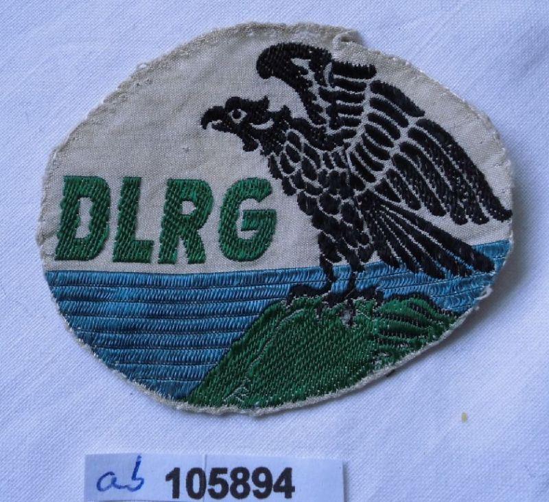 Alter Aufnäher Stoff DLRG deutsche Lebensrettungsgesellschaft (105894)