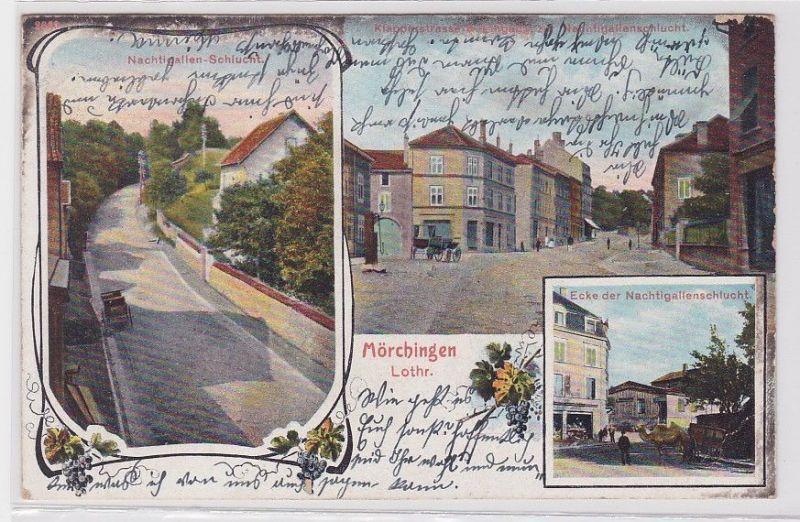 82071 Mehrbild Ak Mörchingen Lothringen Klappenstrasse usw. 1905