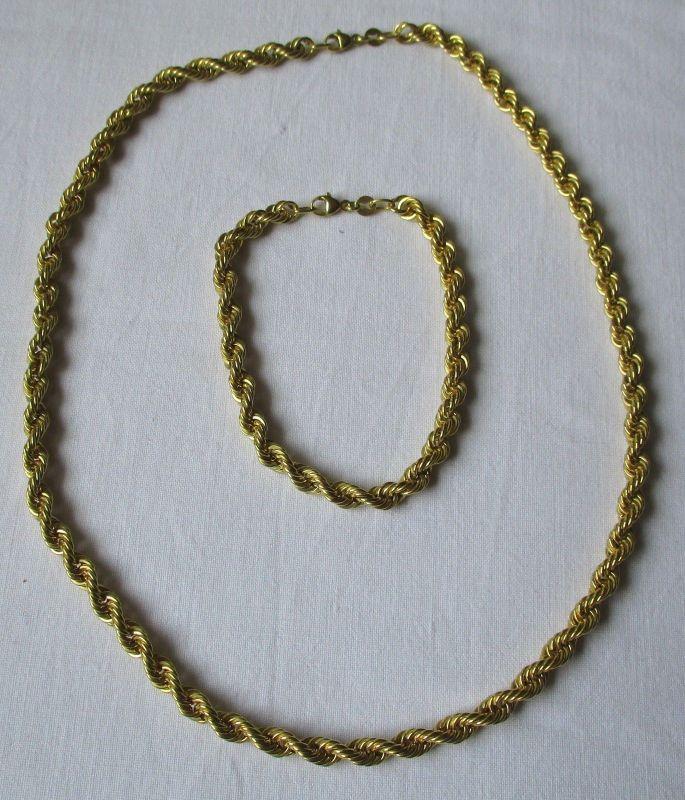 Edles 333er Gold Schmuckset Kette & Armband (124220)