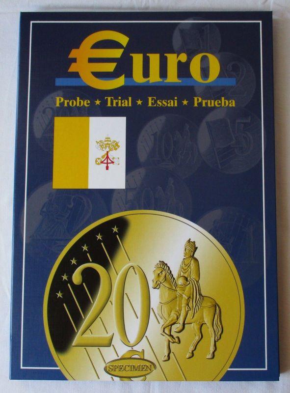 Vatikan Papst 2002-2007 Album Euro Collection Probe Trial Essai Prueba (118491)