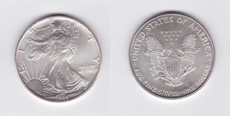 1 Dollar Silber Münze Silver Eagle Usa 1995 1 Unze Feinsilber