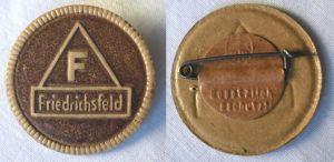 Seltenes Firmen Papp Abzeichen Friedrichsfeld Handwerkskammer? um 1920 (118310)