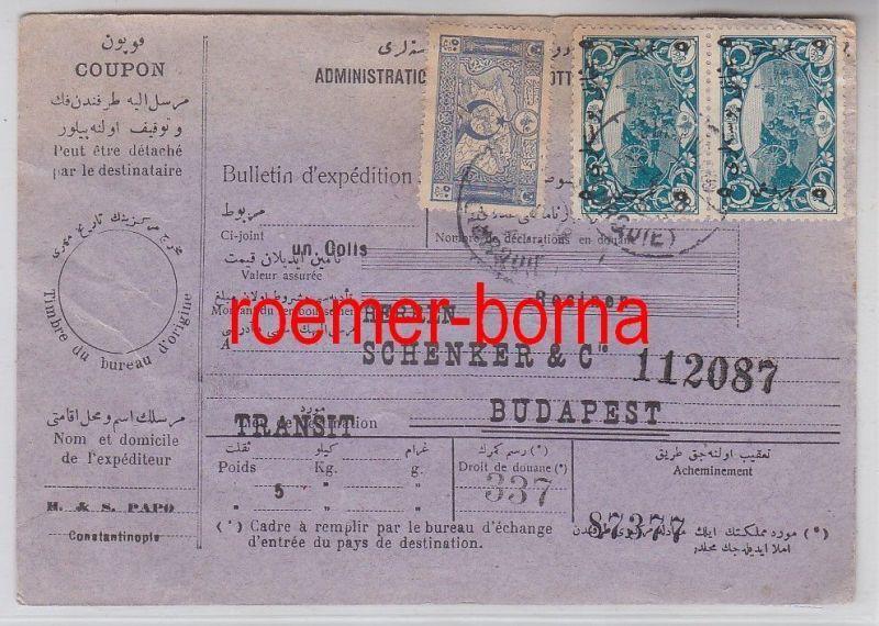 75960 seltene Postanweisung von Constantinople nach Budapest 1918