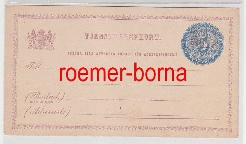 57258 seltene Ganzsachen Postkarte Schweden 5 Öre vor 1900